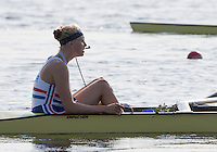 Rotterdam. Netherlands. Cox, Holly HILL. coxes the boat back to the boathouse  2016 JWRC, U23 and Non Olympic Regatta. {WRCH2016}  at the Willem-Alexander Baan.   Friday  26/08/2016 <br /> <br /> [Mandatory Credit; Peter SPURRIER/Intersport Images]