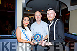 James O'Mahoney and Katelyn Galvin winner of the Judges vote receiving their award from Jer Lynch, Chairman of the Ballymac GAA Club, in the Ballymac Strictly Love dancing in the Ballygarry House Hotel on Saturday.