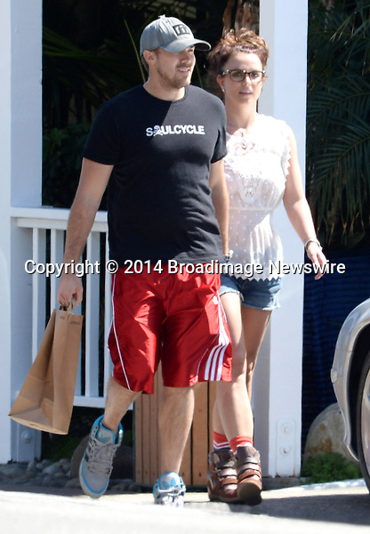 Pictured: Britney Spears, David Lucado<br /> Mandatory Credit &copy; Milton Ventura/Broadimage<br /> ***EXCLUSIVE***<br /> Britney Spears  and boyfriend David Lucado out for lunch at Moonshadows Malibu<br /> <br /> 3/17/14, Malibu, California, United States of America<br /> <br /> Broadimage Newswire<br /> Los Angeles 1+  (310) 301-1027<br /> New York      1+  (646) 827-9134<br /> sales@broadimage.com<br /> http://www.broadimage.com
