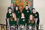 Kerry Education and Training Board and co-hosted by Kerry Music Education Partnership A Kerry students 1916 commemoration event in The Rose Hotel on Tuesday Pictured Jay Carney, Alannah Lynch, michelle O'Connor, Back l-r Dylan Mangan, Adele O'Brien, Gavin Moriarty, Cathal Kelly with principal Con Moynihan from Killorglin Community College