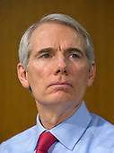 United States Senator Rob Portman (Republican of Ohio), a member of the US Senate Committee on Foreign Relations, at the hearing considering the nomination of Rex Wayne Tillerson, former chairman and chief executive officer of ExxonMobil to be Secretary of State of the US on Capitol Hill in Washington, DC on Wednesday, January 11, 2017.<br /> Credit: Ron Sachs / CNP