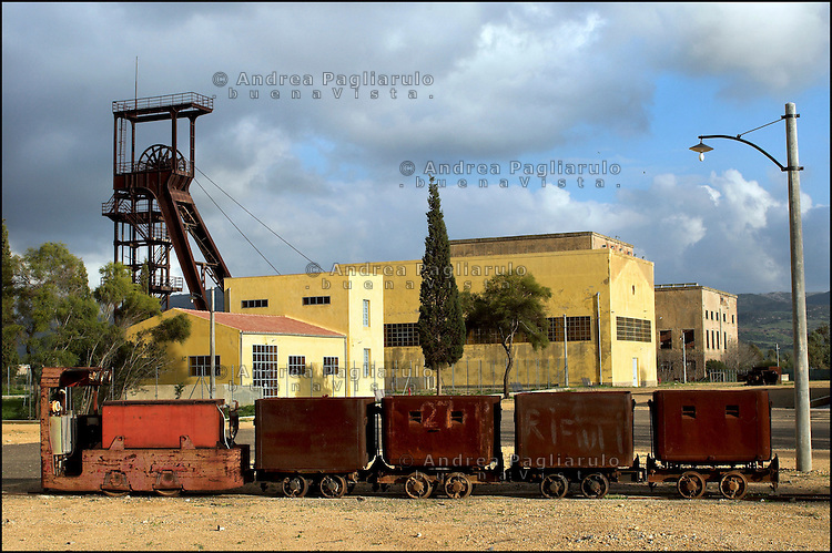 Italia, Sardegna, Carbonia. Miniera di Serbariu, Centro Italiano della Cultura del Carbone.<br /> Italy, Sardinia, Carbonia.<br /> Serbariu mine,&quot;Italian Centre of Mining Culture&quot;.