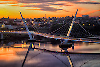 The Peace Bridge. Derry/Londonderry, Northern Ireland.