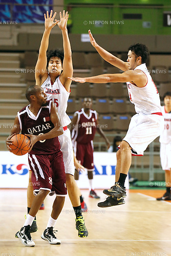 Joji Takeuchi (JPN), <br /> SEPTEMBER 25, 2014 - Basketball : <br /> Men's Preliminary <br /> between Japan 71-72 Qatar <br /> at Samsan World Gymnasium <br /> during the 2014 Incheon Asian Games in Incheon, South Korea. <br /> (Photo by AFLO SPORT)
