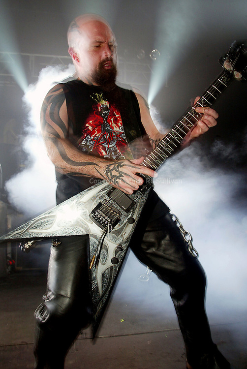 SLAYER<br /> 11/12/04<br /> STARLAND BALLROOM<br /> SAYREVILLE, NJ<br /> PHOTO: MARK R. SULLIVAN/MARKRSULLIVAN.COM
