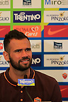AS Roma's Leandro Castan at a press conference during the AS Roma football summer training camp at Pinzolo, on July 7, 2015.