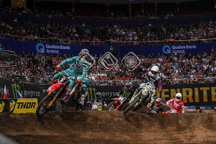 SX 2 / starting action<br /> 2018 SX Open - Sydney <br /> Australian Supercross Championships<br /> Qudos Bank Area / Sydney Aus<br /> Saturday Nov 10th 2018<br /> &copy; Sport the library/ Jeff Crow / AME