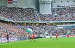 Stockholm 2014-07-28 Fotboll Superettan Hammarby IF - Assyriska FF :  <br /> Vy &ouml;ver Tele2 Arena under matchen  mellan Hammarby och Assyriskas mot nord&ouml;stra kurvan Hammarbys supportrar<br /> (Foto: Kenta J&ouml;nsson) Nyckelord:  Superettan Tele2 Arena Hammarby HIF Bajen Assyriska AFF supporter fans publik supporters