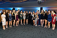 Pictured: The ladies teams<br /> Re: Swansea City FC Christmas party at the Liberty Stadium, Wales, UK. Thursday 14 December 2017