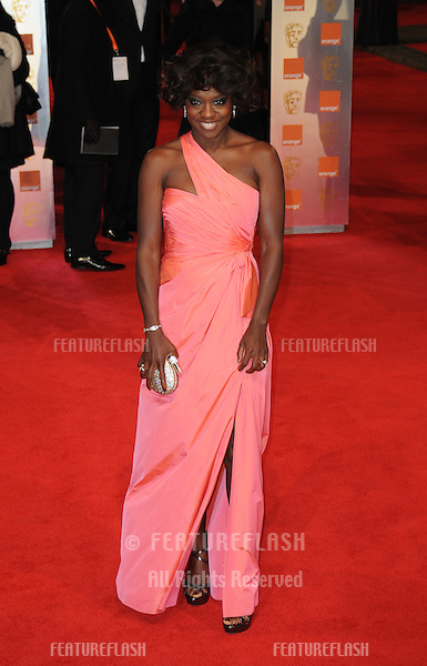 Viola Davis attends the Orange British Academy Film Awards 2012 at the Royal Opera House..February 12, 2012, London, UK.Picture: Catchlight Media / Featureflash