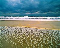 Foam Patterns after a storm, Island Beach State Park, New Jersey