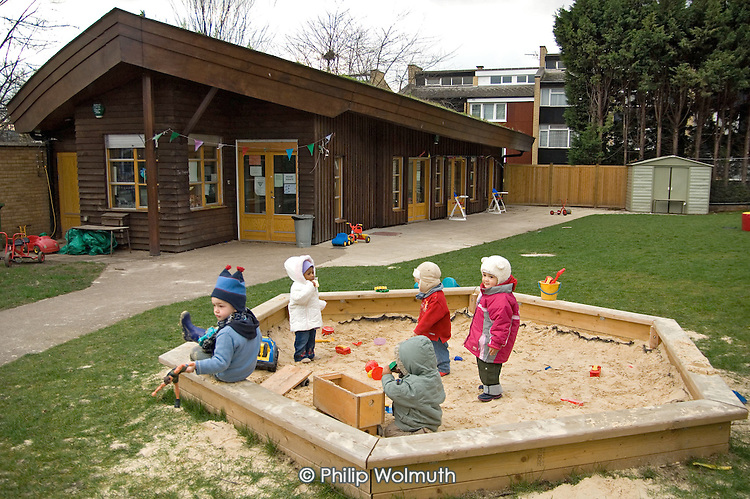 Meanwhile Gardens playhut and new sandpit.