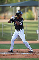 AZL White Sox DJ Gladney (25) at bat during an Arizona League game against the AZL Padres 2 on June 29, 2019 at Camelback Ranch in Glendale, Arizona. The AZL Padres 2 defeated the AZL White Sox 7-3. (Zachary Lucy/Four Seam Images)