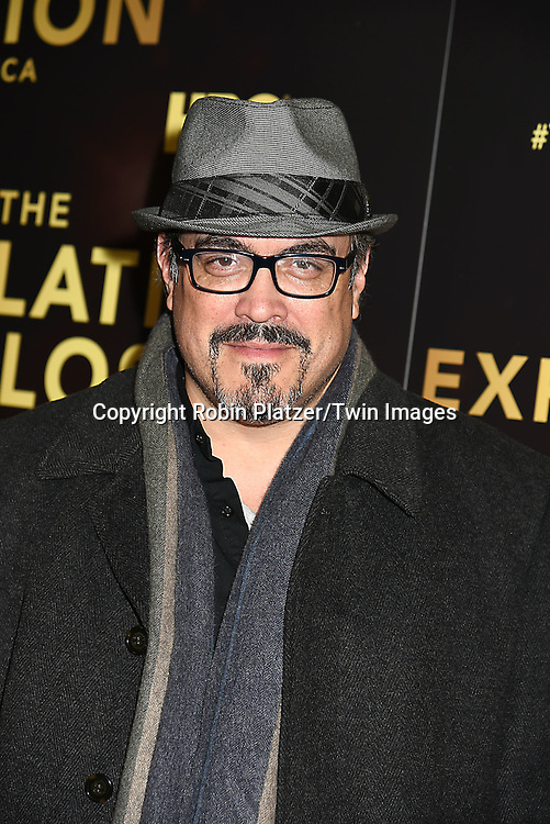 David Zayas attends the HBO premiere of &quot;The Latin Explosion: A New America&quot; on November 10, 2015 at the Hudson Theater in New York City, New York, USA.<br /> <br /> photo by Robin Platzer/Twin Images<br />  <br /> phone number 212-935-0770