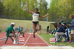 Brionne Pyles of the Wake Forest Demon Deacons competes in the long jump portion of the heptathlon at the Charlotte Invitational at the Irwin Belk Track & Field Center on April 14, 2018 in Charlotte, North Carolina.  (Brian Westerholt/Sports On Film)
