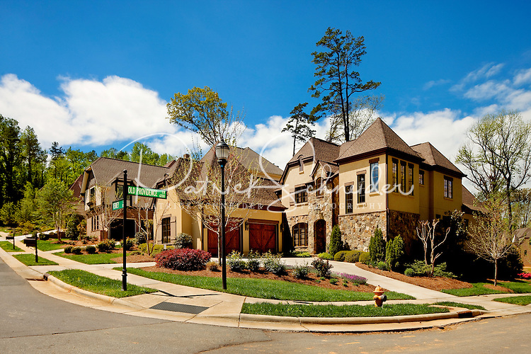 Part of a photography collection showing the variety of architectural styles of homes, apartments and condos in metropolitan Charlotte, NC. Image taken of Chambery Luxury Homes, near Southpark