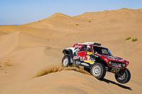 5th January 2020, Jeddah, Saudi Arabia;  305 Sainz Carlesp, Cruz Lucas esp, Mini John Cooper Works Buggy, Bahrain JCW X-Raid Team during Stage 1 of the Dakar 2020 between Jeddah and Al Wajh, 752 km - Editorial Use