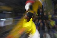BOGOTÁ - COLOMBIA, 01-02-2019:Mikael Ymer  tenista de Suecia en acción contra Daniel Elahi Galán tenista  de Colombia durante el primer encuentro por los Qualifiers de la Copa Davis por BNP Paribas buscando un cupo para las finales en Madrid jugado en la cancha del Palacio de los Deportes./ Mikael Ymer, tennis player from Sweden in action against Daniel Elahi Galan tennis player from Colombia during the Davis Cup Qualifiers firts match by BNP Paribas looking for a place for the finals in Madrid played in the Palace of Sports court. Photo: VizzorImage / Felipe Caicedo / Staff.