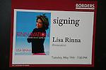 Lisa Rinna new book Rinnavation - Getting Your Best Life Ever debuts today, May 19. 2009 at Borders at Columbus Circle, New York City, New York. (Photo by Sue Coflin/Max Photos)