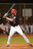 Ball State Cardinals outfielder Matt Eppers (35) during a game against the Mississippi Valley State Delta Devils on February 21, 2014 at North Charlotte Regional Park in Port Charlotte, Florida.  Ball State defeated Mississippi Valley 12-1.  (Mike Janes/Four Seam Images)