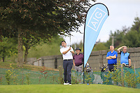 Stephen Moloney (Castletroy) on the 1st tee during the AIG Barton Shield Munster Final 2018 at Thurles Golf Club, Thurles, Co. Tipperary on Sunday 19th August 2018.<br /> Picture:  Thos Caffrey / www.golffile.ie<br /> <br /> All photo usage must carry mandatory copyright credit (&copy; Golffile | Thos Caffrey)