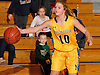 Allison Stackpole #10 of Massapequa takes an inbounds pass during a Nassau County Conference AA-I varsity girls' basketball game against Syosset at Massapequa High School on Friday, Jan. 15, 2016. Massapequa won by a score of 60-33.