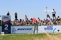 Alexander Bjork (SWE) on the 2nd tee during Round 1 of the HNA Open De France at Le Golf National in Saint-Quentin-En-Yvelines, Paris, France on Thursday 28th June 2018.<br /> Picture:  Thos Caffrey | Golffile