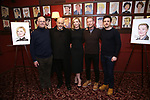 Producer Stuart Thompson, Marshall Napier, Cate Blanchett, Richard Roxburgh and Chris Ryan attend the Cate Blanchett and Richard Roxburgh Caricature Unveiling at Sardi's on March 14, 2017 in New York City.
