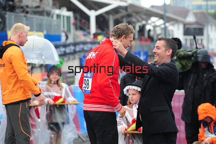 IPC European Athletics Championship 2014<br /> Swansea University<br /> <br /> Medal ceremony: Men's 200m T44.<br /> <br /> 21.08.14<br /> Chris Vaughan-SPORTINGWALES