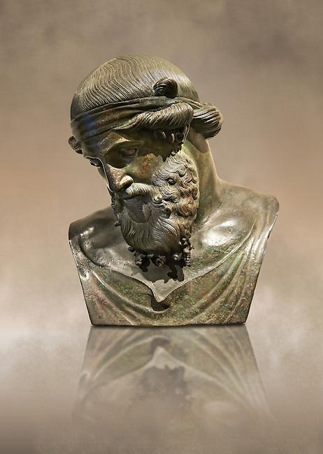 Roman bronze sculpture of Dinoysus - Plato, Naples Museum of Archaeology, Italy
