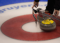 Glasgow. SCOTLAND. Procession measuring the position of the &quot;Stones&quot; at the Le Gruy&egrave;re European Curling Championships. 2016 Venue, Braehead  Scotland<br /> Sunday  20/11/2016<br /> <br /> [Mandatory Credit; Peter Spurrier/Intersport-images]