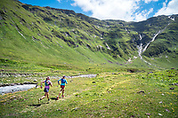 Trail running from La Fouly in Val Ferret, Switzerland