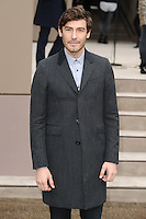 Robert Konjic  arrives for the Burberry Prosum menswear AW14 as part of London Collections Men, Kensington Gardens, London.08/01/2014 Picture by: Steve Vas / Featureflash