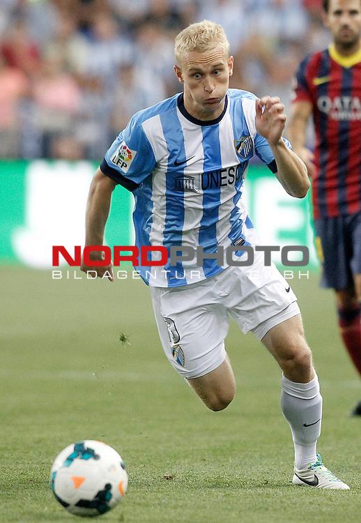 Malaga's Bartlomiej Radoslau Pawlowski during La Liga match.August 25,2013. Foto © nph / Acero)