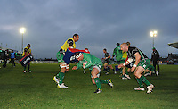 23rd November 2013; Connacht Players warm up before kickoff. Rabodirect Pro12, Connacht v Scarlets, Sportsground, Galway. Picture credit: Tommy Grealy/actionshots.ie.