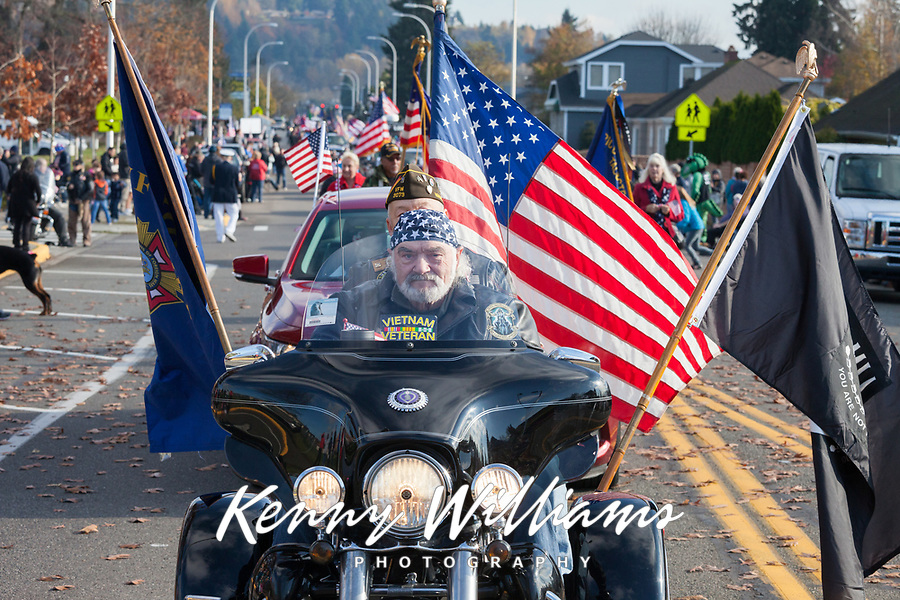 Veterans Day Parade 2018, Auburn, WA, USA.
