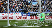 Blackburn Rovers' David Raya lines up his defensive wall at a free kick<br /> <br /> Photographer Andrew Kearns/CameraSport<br /> <br /> The EFL Sky Bet Championship - Bolton Wanderers v Blackburn Rovers - Saturday 6th October 2018 - University of Bolton Stadium - Bolton<br /> <br /> World Copyright &copy; 2018 CameraSport. All rights reserved. 43 Linden Ave. Countesthorpe. Leicester. England. LE8 5PG - Tel: +44 (0) 116 277 4147 - admin@camerasport.com - www.camerasport.com