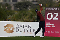 Gregory Havret (FRA) on the 2nd during Round 1 of the Commercial Bank Qatar Masters 2020 at the Education City Golf Club, Doha, Qatar . 05/03/2020<br /> Picture: Golffile | Thos Caffrey<br /> <br /> <br /> All photo usage must carry mandatory copyright credit (© Golffile | Thos Caffrey)