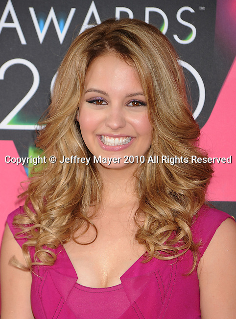 LOS ANGELES, CA. - March 27: Gage Golightly arrives at Nickelodeon's 23rd Annual Kid's Choice Awards at Pauley Pavilion on March 27, 2010 in Los Angeles, California.