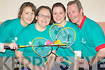 BADMINTON: The Staff of the Ardfert Community Centre done their bit for the Special Olympics as they set to play Badminton for 8 hrs non-stop at the Centre on Saturday. l-r: Lorraine O'Brien, Julie O'halloran, Lisa Mccarthy and Pat Murp[hy.