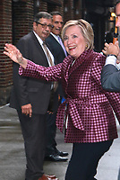 SEP 19 Hillary Clinton At The Late Show