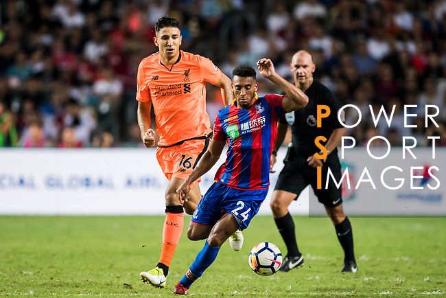 Crystal Palace forward Keshi Anderson in action during the Premier League Asia Trophy match between Liverpool FC and Crystal Palace FC at Hong Kong Stadium on 19 July 2017, in Hong Kong, China. Photo by Weixiang Lim / Power Sport Images