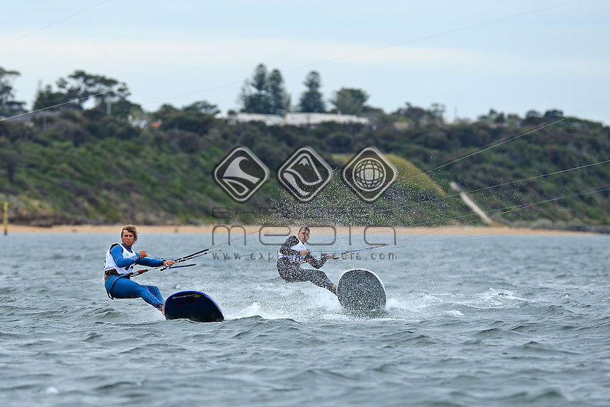 Kiteboard - M / Florian Gruber (GER)<br /> 2013 ISAF Sailing World Cup - Melbourne<br /> Sail Melbourne - The Asia Pacific Regatta<br /> Sandringham Yacht Club, Victoria<br /> December 1st - 8th 2013<br /> © Sport the library / Jeff Crow