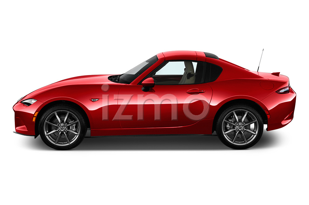 Car Driver side profile view of a 2019 Mazda MX-5-Miata-RF Grand-Touring 2 Door Targa Side View