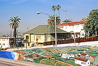 Santa Monica CA: Mural, Ocean Park Blvd.  Photo '82.