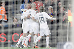 Real Madrid's Cristiano Ronaldo, Pepe and Luka Modric celebrate goal during La Liga match. April 2,2016. (ALTERPHOTOS/Acero)