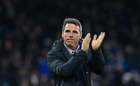 Gianfranco Zola during the Premier League match between Chelsea and West Bromwich Albion at Stamford Bridge, London, England on 12 February 2018. Photo by Andy Rowland.