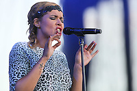 Chimene Badi performs at the 45th Festival d'ete de Quebec on the Plains of Abraham in Quebec city Saturday July 7, 2012. The Festival d'ete de Quebec is Canada's largest music festival with more than 1000 artists and close to 300 shows over 11 days.