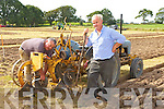 Jimmy Horan and Paddy Breen Castleisland getting their  plough ready for action at the South Kerry Ploughing Championships in Fossa on Sunday