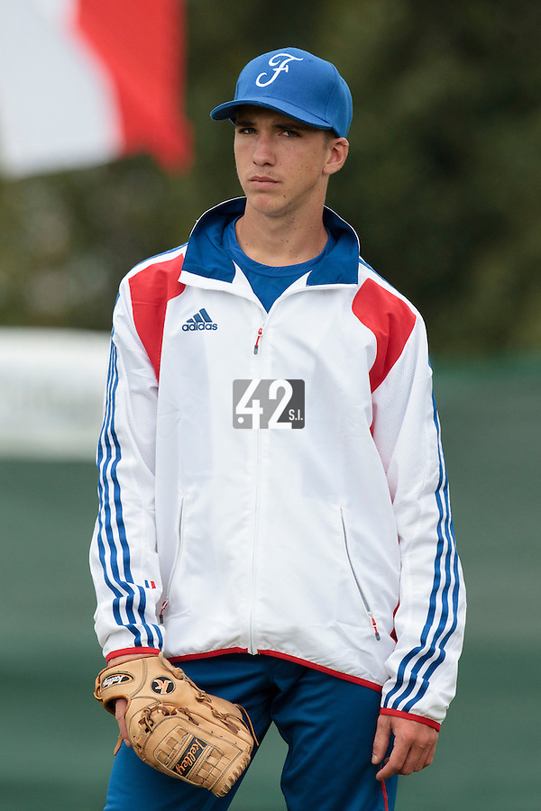 18 August 2010: Steven Vesque of Team France is seen prior to the France 7-3 win over Ukraine, at the 2010 European Championship, under 21, in Brno, Czech Republic.